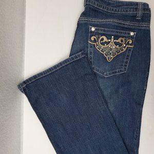 a.n.a. Size 18W Decorative Pocket Jeans
